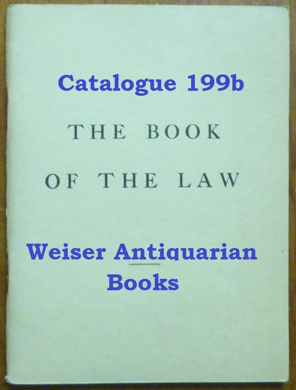 Catalogue 199B: The Book of the Law