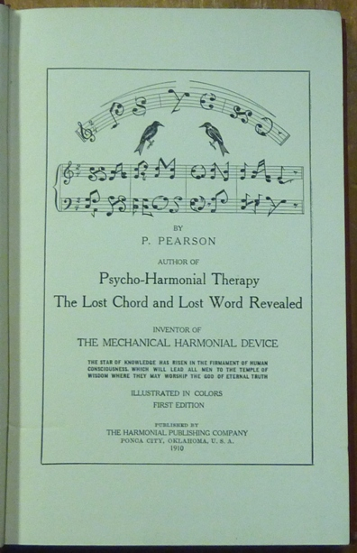 Psycho Harmonial Philosophy Based Upon The Musical Scale Psycho