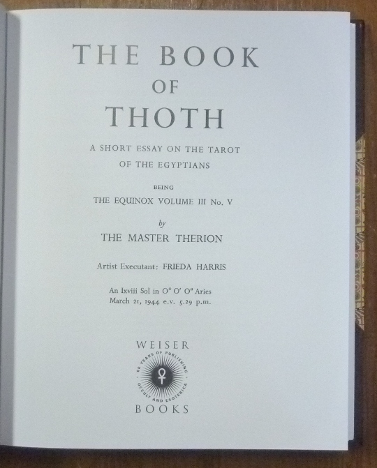 The Book Of Thoth A Short Essay On The Tarot Of The Egyptians  The Book Of Thoth A Short Essay On The Tarot Of The Egyptians Being General Paper Essay also Example Of Essay Writing In English  Small Essays In English