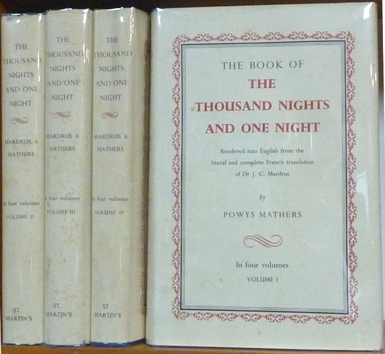 The Book of the Thousand Nights and One Night (4 Volume Set); Rendered into English from the literal and complete French translation. Arabian Nights, Dr. J. C. MARDRUS, Powys Mathers.