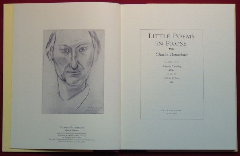 Little Poems in Prose. Aleister CROWLEY, Translates, Charles BAUDELAIRE, Martin P. Starr.