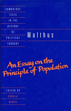 Malthus: An Essay on the Principle of Population. Donald WINCH.
