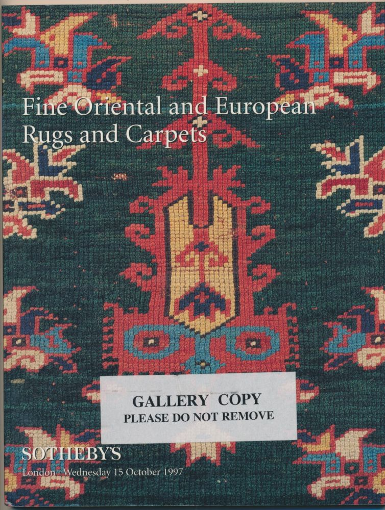 Sotheby's Fine Oriental and European Rugs and Carpets: London, 15 October 1997. SOTHEBY'S.