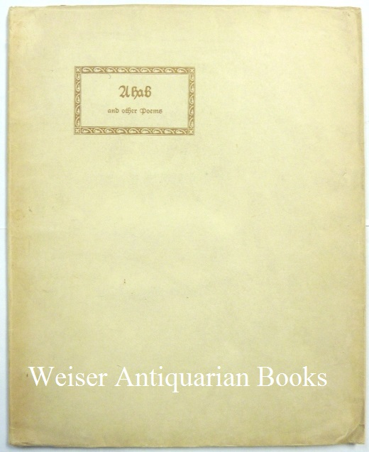 Ahab and other Poems. With an Introduction and, Count Vladimir Svareff.