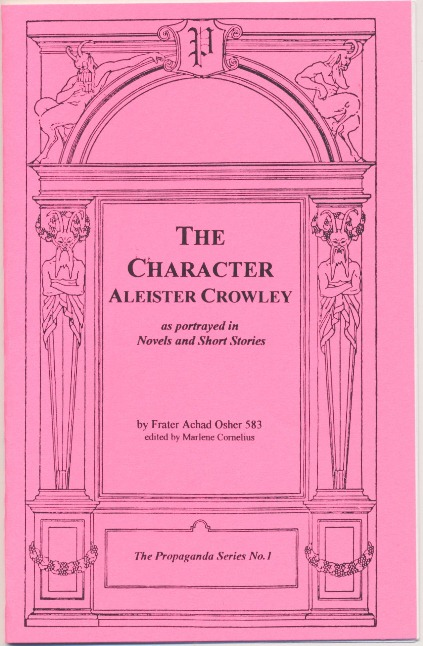 The Character Aleister Crowley, as portrayed in Novels and Short Stories. Frater Achad OSHER 583, Marlene Cornelius, J. Edward Cornelius: Jerry Cornelius.