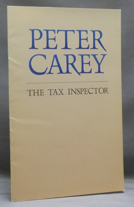 The Tax Inspector [Advance sample booklet]. Peter CAREY.