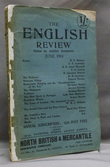 """Aleister Crowley contributes a short story, """"The Stratagem"""" to The English Review, Vol. XVII, No. 3, June 1914. Aleister contributes to CROWLEY, Austin HARRISON."""