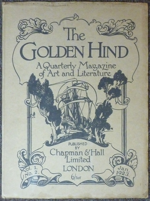 The Golden Hind, A Quarterly magazine of Art & Letter, Vol. 1 No. 2 January 1923. Edit, Contribute to, Austin Osman SPARE, Clifford Bax.