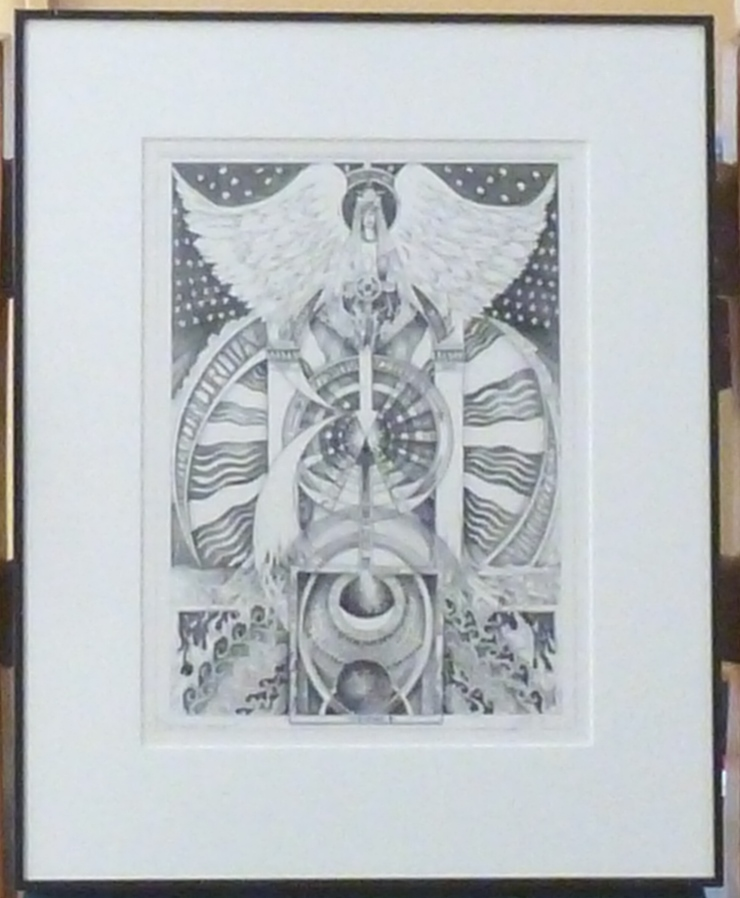 "A signed, limited-edition print of an original tarot design ""Temperance"" by Leigh McCloskey. Leigh J. McCLOSKEY."