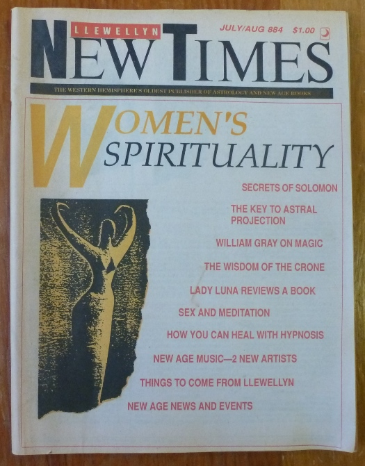 The Llewellyn New Times. Issue Number 884, July/August 1988. Donald Michael KRAIG, Contributors include William Gray, Donald Michael Kraig.
