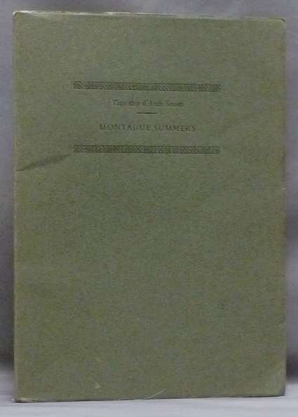Montague Summers: A Talk. Montague SUMMERS, Timothy D'Arch Smith, signed.