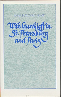 With Gurdjieff in St. Petersburg and Paris. Mary Cosh, Alicia Street.