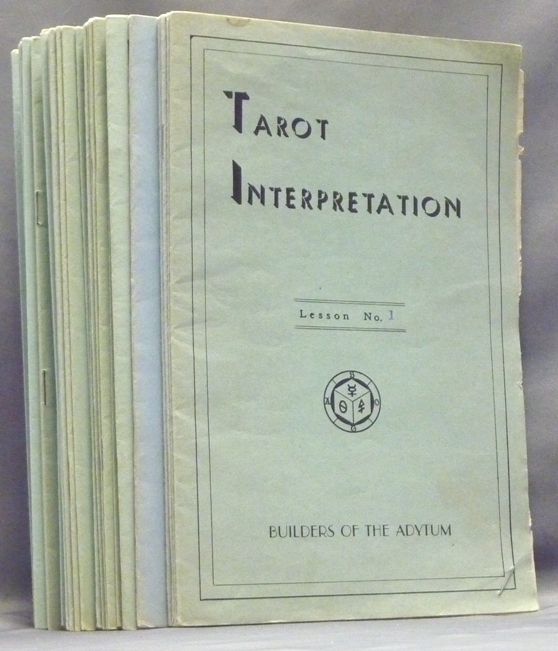 Tarot Interpretation, Lessons 1- 12 & 14 - 32 ( 31 booklets of a possible 32 ). Paul Foster CASE.