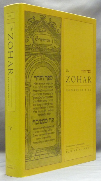 Excerpts on existence: the zohar pritzker edition, volume one.