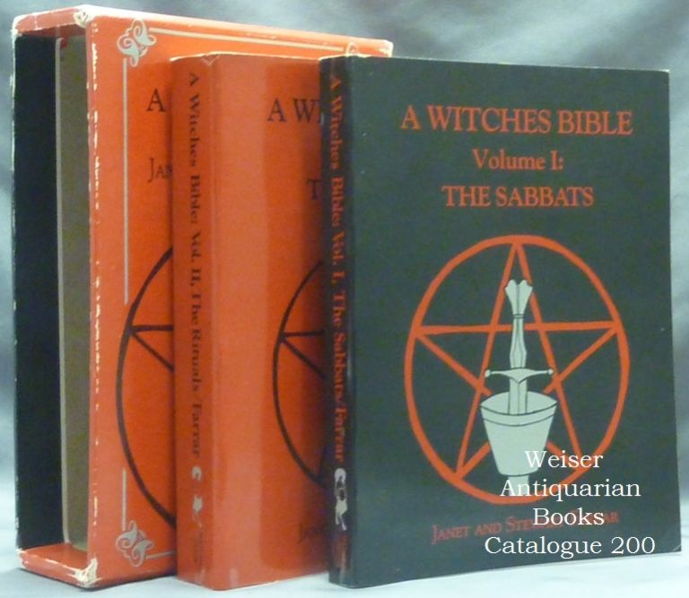 A Witches Bible. A Witches Bible Volume I: The Sabbats, and Rites for Birth, Marriage and Death [&] A Witches Bible Volume II: The Rituals. Principles, Rituals and Beliefs of Modern Witchcraft (2 Volumes in slipcase). Stewart and Janet FARRAR.