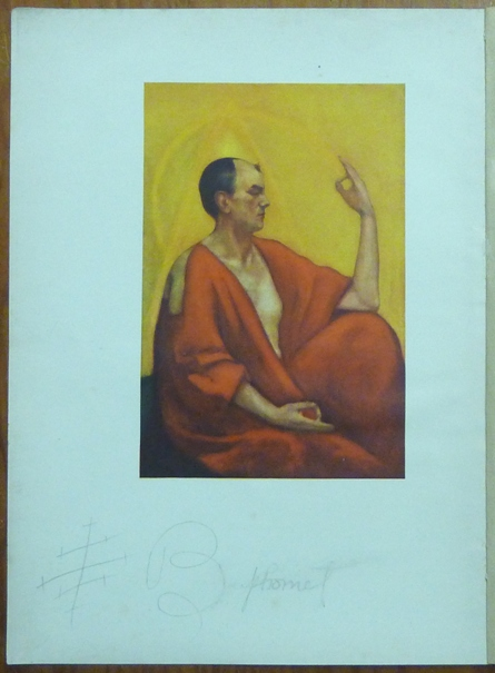 'The Master Therion' An Original Colour Reproduction of a painting of Aleister Crowley by Leon Engers Kennedy: an illustration from the The Equinox Vol. III, No 1, 1919 [ aka 'The Blue Equinox' ]. Aleister CROWLEY.