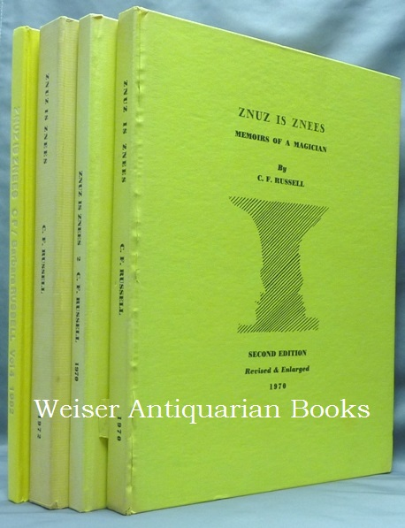Znuz is Znees, Memoirs of a Magician [ 4 Volume Set ]. Cecil Frederick RUSSELL, Associate of Aleister Crowley.