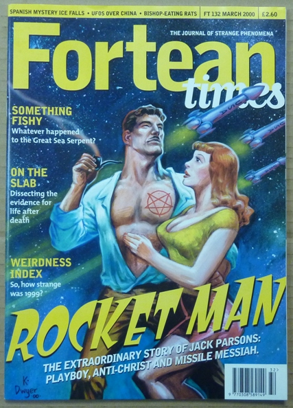 """an essay, """"Rocket Man. The Extraordinary Story of Jack Parsons: Playboy, Anti-Christ and Missle Messiah"""" by Colin Bennett in Fortean Times 132: March 2000. Jack: related material PARSONS, Colin Bennett, Bob Rickard, Paul Sieveking."""