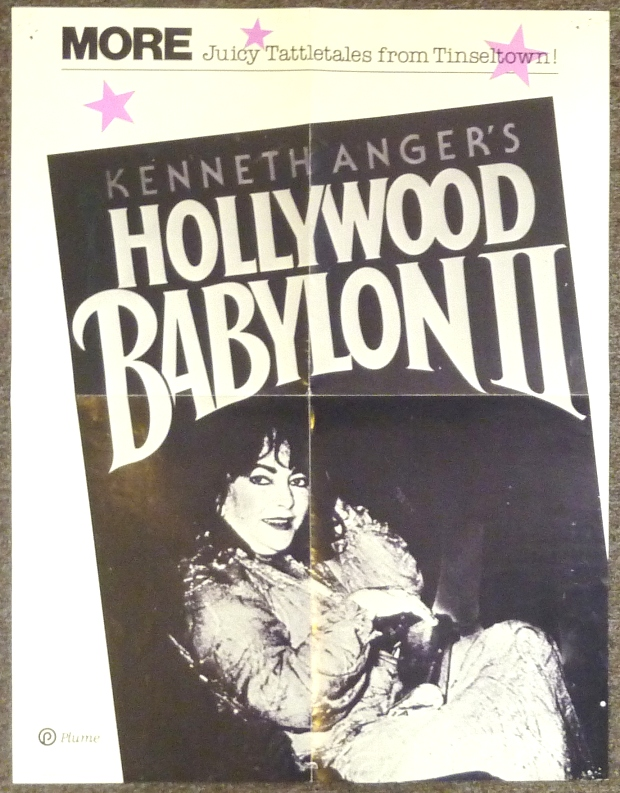"A Large Advertising Poster for the Book ""Hollywood Babylon II"" Kenneth ANGER."