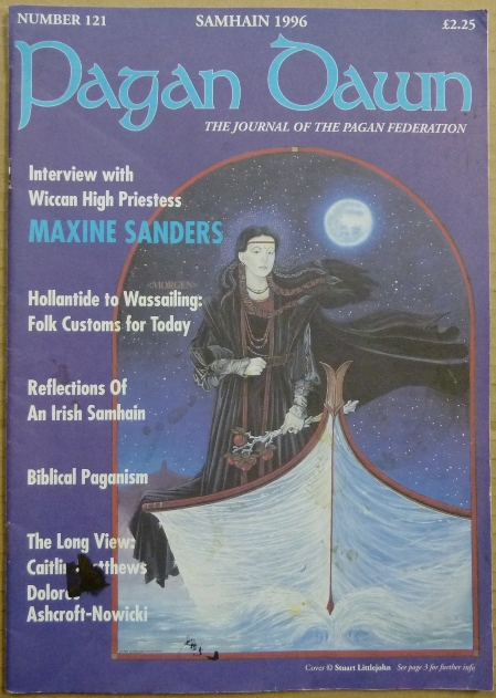 Pagan Dawn, The Journal of the Pagan Federation. Number 121, Samhain, 1996. Pagan Dawn Magazine, Christina. with OAKLEY, Maxine Sanders authors, Aleister Crowley related.