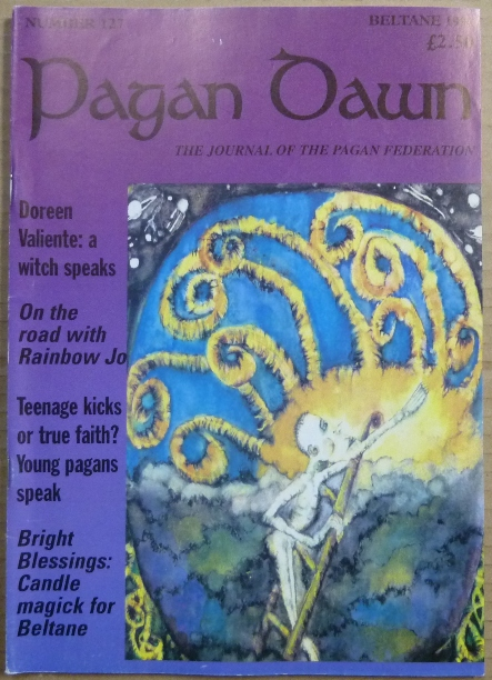 Pagan Dawn, The Journal of the Pagan Federation. Number 127, Beltane, 1998. Pagan Dawn Magazine, Jem. with DOWSE, authors: Doreen Valiente, Aleister Crowley related.