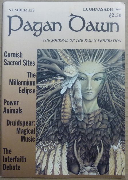 Pagan Dawn, The Journal of the Pagan Federation. Number 128, Lughnasadh, 1998. Pagan Dawn Magazine, Jem. with DOWSE, authors: Doreen Valiente, Aleister Crowley related.