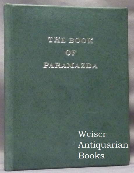 The Book of Paramazda. ANONYMOUS.