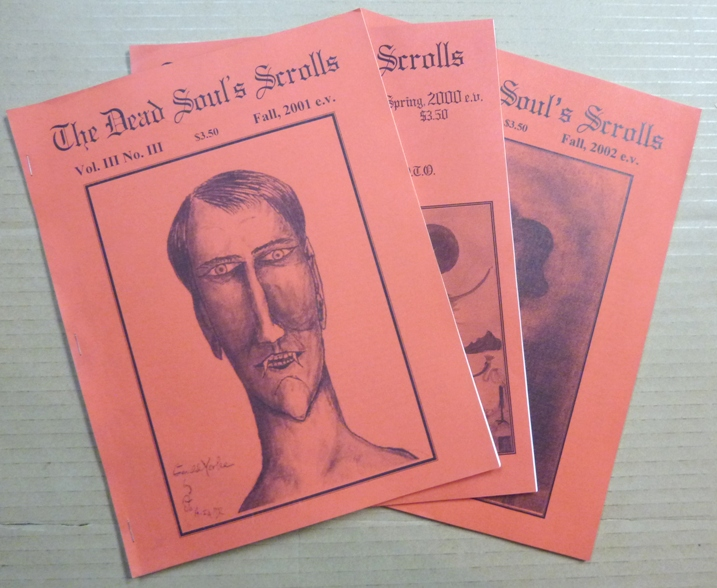 The Dead Soul's Scrolls. Vol. 3, No. 1 Spring 2000; Vol. III, No. III Fall 2001; & Vol. III, No. IV Fall 2002 (3 issues). Aleister: related works CROWLEY, Xanadu Camp - OTO.