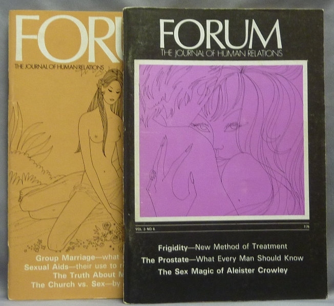An article by James McKenzie Gordon, 'The Sex Magic of Aleister Crowley' in 'Forum: The Journal of Human relations' Vol. 3, No. 6 and a related letter in 'Forum: The Journal of Human relations' Vol. 3, No. 9 ( 2 Volumes ). Aleister: related works CROWLEY, contributor James McKenzie, Albert Z. Freedman.