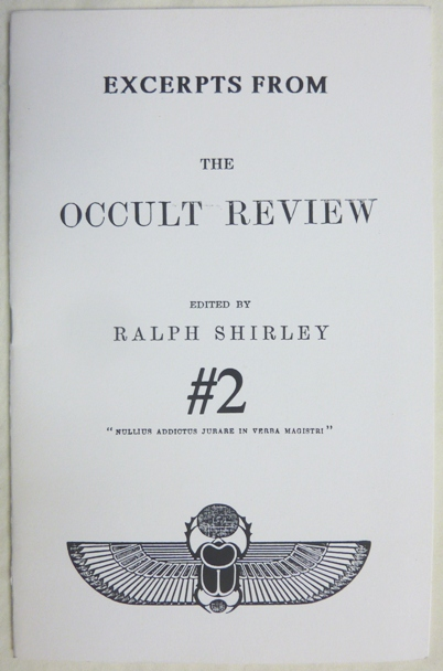 [ Excerpts from The Occult Review. #2 ] Notes of the Month. Vol. XI, No. 5, May 1910. Being a derisive account of the Golden Dawn as it appeared in Crowley's revelations in The Equinox. Ralph - Edited. Aleister Crowley SHIRLEY, contributor.
