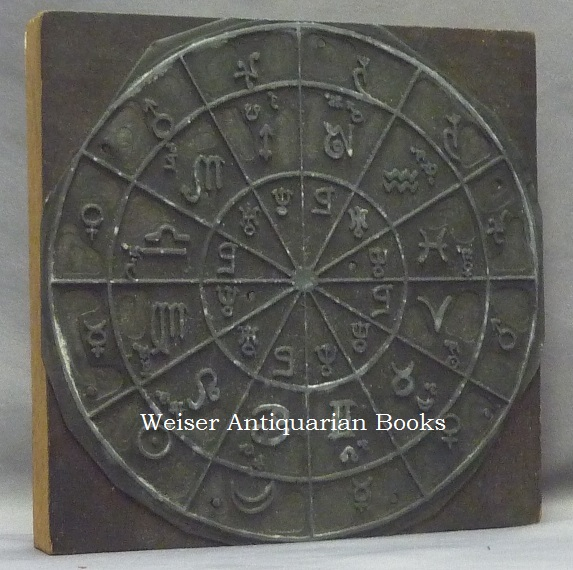 An Original Cast Metal Printing Plate of a Circular Astrological Diagram: The Essential Dignities of the Planets. Aleister - related material CROWLEY.