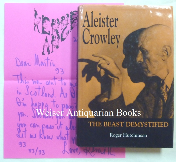 """A copy of Roger Hutchinson's """"Aleister Crowley: The Beast Demystified"""" with an Autograph Letter, Signed, From Kenneth Anger presenting the book to Martin P. Starr. Kenneth ANGER, Roger Hutchinson, Martin P. Starr association copy."""