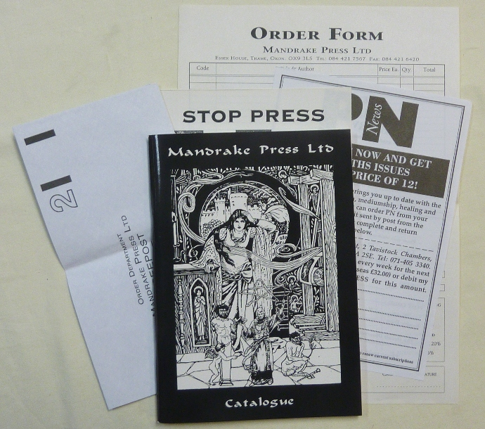 Mandrake Press Ltd. Catalogue [ Includes Louis Wilkinson's Introduction to the Abridged Commentary of the Book of the Law. ]. Anthony. Louis Wilkinson NAYLOR, Aleister Crowley: related material.