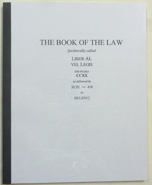 The Book of the Law. Aleister related CROWLEY, Marlene Cornelius, J. Edward Cornelius -, both, Jerry.