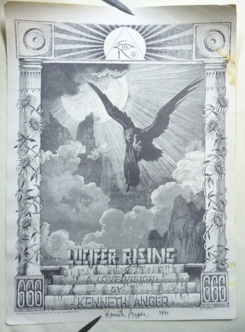 """A Signed, Numbered Poster for Kenneth Anger's """"Lucifer Rising: A Love Vision"""" Kenneth - SIGNED ANGER, Rick Griffin, From the David Tibet collection."""