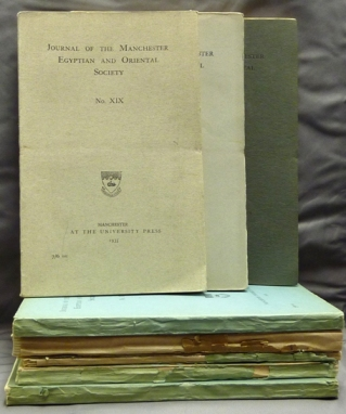 Journal of the Manchester Egyptian and Oriental Society ( 8 issues ); 1913-1914, No. X 1923, No. XI 1924, No. XII 1926, No. XIII 1927, No. XIV 1929, No. XV 1930, No. XIX 1935. Ancient Egypt, Manchester Egyptian, Oriental Society.