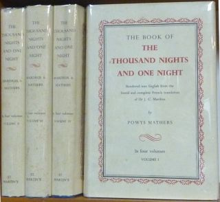 The Book of the Thousand Nights and One Night (4 Volume Set); Rendered into English from the...