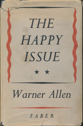 The Happy Issue. Warner ALLEN.