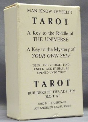 "Tarot, Builders of the Adytum (B.O.T.A) [ Man, Know Thyself. A Key to the Riddle of the Universe. A Key to the Mystery of Your Own Self. ""Seek and Ye Shall Find, Knock , and it Shall be Opened Unto You!"" (Boxed Tarot deck). B. O. T. A."