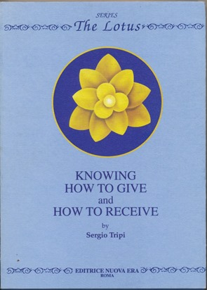 Knowing How to Give and How to Receive ( Series: The Lotus ). Inscribed, signed, Jancis D....