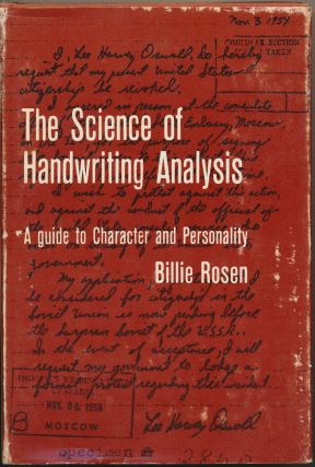 The Science of Handwriting Analysis: A guide to Character and Personality. Billie Pesin ROSEN