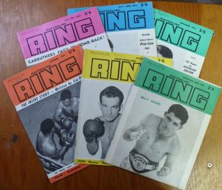 Australian Ring. Volume 6; Nos 1, 2, 6, 7, 8, 9. (Jan/Feb, May/June, Sept, Oct, Nov, Dec, 1962) (...