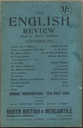 "Aleister Crowley contributes an essay ""Art in America"" to The English Review, November 1913...."