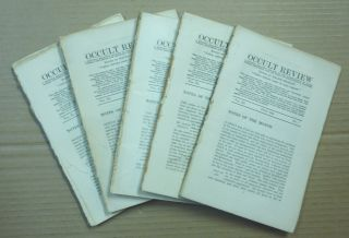 The Occult Review. Volume XL, July - November 1924 (five consecutive issues). Ralph SHIRLEY, H....