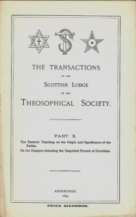 Transactions of the Scottish Lodge of the Theosophical Library. Part X. Contains two essays...