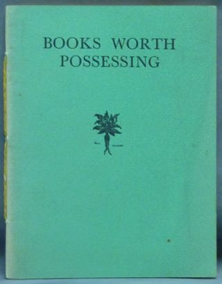 Books Worth Possessing. Mandrake Press Ltd, Aleister Crowely: related works.