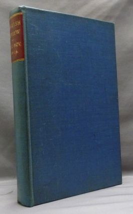Four issues of The English Review, August, September, October, November 1914, bound in one...