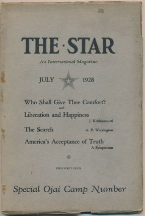 The Star: An International Magazine - Vol.I, No.7, July 1928 - Special Ojai Camp Number....
