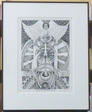 "A signed, limited-edition print of an original tarot design ""Temperance"" by Leigh McCloskey...."