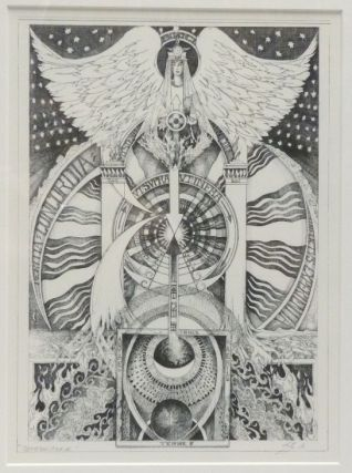"A signed, limited-edition print of an original tarot design ""Temperance"" by Leigh McCloskey."